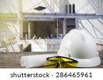 file of safety helmet and... | Shutterstock . vector #286465961