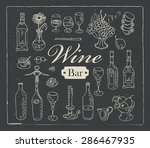 wine set with graphic images | Shutterstock .eps vector #286467935