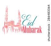 vector illustration of mosque... | Shutterstock .eps vector #286483364