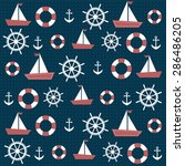 background with anchors and... | Shutterstock .eps vector #286486205