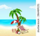 summer vacation background.... | Shutterstock . vector #286489151