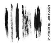 brush strokes on white... | Shutterstock . vector #286500005