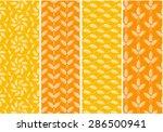 set of bright seamless patterns ...   Shutterstock .eps vector #286500941