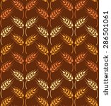 seamless vintage pattern with... | Shutterstock .eps vector #286501061