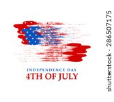 4th of july   independence day... | Shutterstock .eps vector #286507175