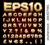 vector set of metallic letters... | Shutterstock .eps vector #286507481