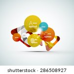 abstract step infographic... | Shutterstock .eps vector #286508927