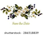 watercolor floral element ... | Shutterstock .eps vector #286518839