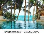 Pool On A Tropical Beach  ...