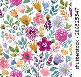 watercolor vector seamless...   Shutterstock .eps vector #286525547