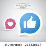 thumbs up and heart icons....   Shutterstock .eps vector #286525817