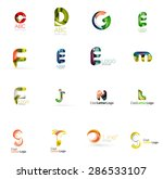 set of new universal company... | Shutterstock . vector #286533107