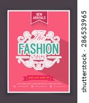 the fashion sale on new... | Shutterstock .eps vector #286533965