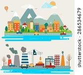 big set of environmental... | Shutterstock .eps vector #286534679
