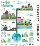 big set of ecology infographic... | Shutterstock .eps vector #286534685