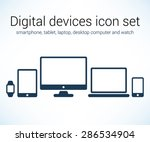 digital devices icon set