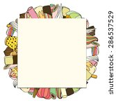 square paper card on a...   Shutterstock .eps vector #286537529