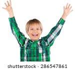 fingers  discount  smile. | Shutterstock . vector #286547861