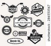 bicycle shop   service... | Shutterstock .eps vector #286553567