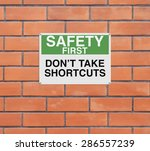 a modified road sign with a... | Shutterstock . vector #286557239