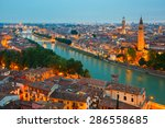 verona skyline with river adige ... | Shutterstock . vector #286558685