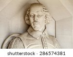 Small photo of A sculpture of famous playwright William Shakespeare situated outside Guildhall Art Gallery in London.