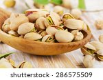 Pistachios In A Wooden Spoon....
