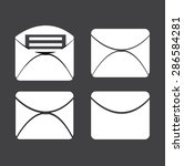 a set of messages icon. vector... | Shutterstock .eps vector #286584281