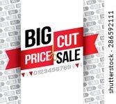 big sale. price cut. vector...   Shutterstock .eps vector #286592111