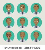 emotions doctor faces vector... | Shutterstock .eps vector #286594301