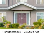 a nice entrance of a luxury... | Shutterstock . vector #286595735