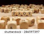 faqs word concept   Shutterstock . vector #286597397