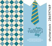 abstract father's day... | Shutterstock .eps vector #286597469