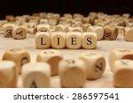 lies word concept | Shutterstock . vector #286597541