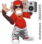 Stock vector happy monkey 286601054