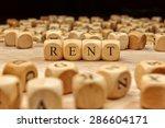 rent word concept | Shutterstock . vector #286604171