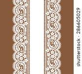lace vertical seamless pattern. ... | Shutterstock .eps vector #286605029
