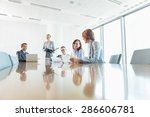 businesspeople in conference... | Shutterstock . vector #286606781