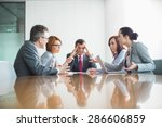 Small photo of Businesspeople arguing in meeting