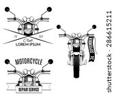 set of vintage motorcycle... | Shutterstock .eps vector #286615211