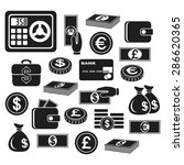 icons of different currency and ...   Shutterstock .eps vector #286620365