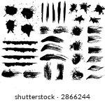 ink and brush strokes   fully... | Shutterstock .eps vector #2866244
