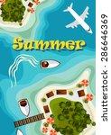 vector illustration. island in...   Shutterstock .eps vector #286646369