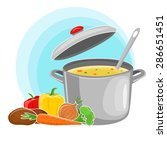 recipe vegetarian vegetable... | Shutterstock .eps vector #286651451