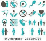 medical icon set. style ... | Shutterstock . vector #286654799