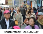 london   may 30  people walk... | Shutterstock . vector #286682039