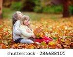 cute little fashion sisters...   Shutterstock . vector #286688105
