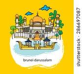 brunei    Shutterstock .eps vector #286697087