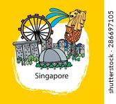singapore   Shutterstock .eps vector #286697105