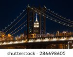 new york cityscape with... | Shutterstock . vector #286698605
